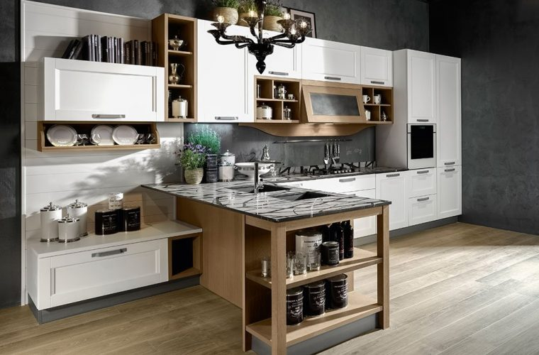 cucina usata con penisola open space modelli prezzi